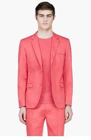 CALVIN KLEIN COLLECTION Coral Red Blazer for men