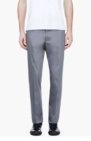 CALVIN KLEIN COLLECTION Grey Tapered Trousers for men