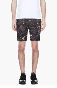 CALVIN KLEIN COLLECTION Black Digital Water Print Shorts for men
