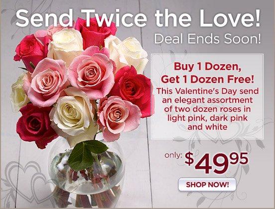 Send Twice The Love - Buy One Dozen, Get One Dozen FREE!
