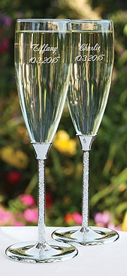 Personalized Glittering Bead Flutes