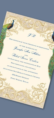 Golden Treasure Invitation