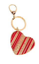 Stars & Stripes Heart KeyFob