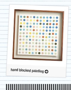 hand blocked painting
