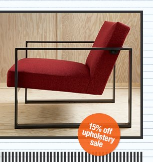 15% off upholstery sale