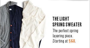 The Light Spring Sweater The perfect spring layering piece. Starting at $68.
