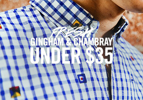 Shop Fresh Gingham & Chambray Under $35