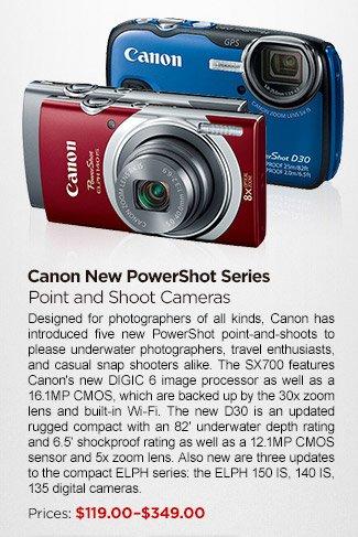 Canon New PowerShot Series