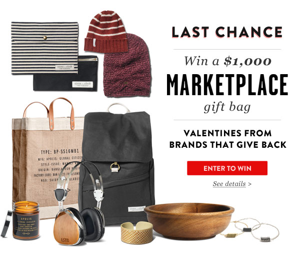 Last chance to win a $1000 Marketplace gift bag - Enter to win