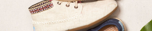 Burlap Trim Women's Tribal Boots