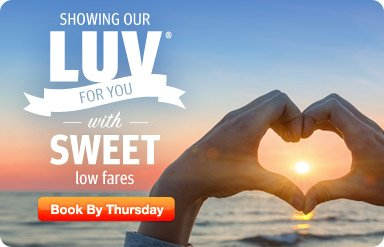 Click 'n Save - Showing our LUV for you with sweet low fares
