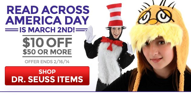 $10 Off Dr. Seuss for Read Across America Day