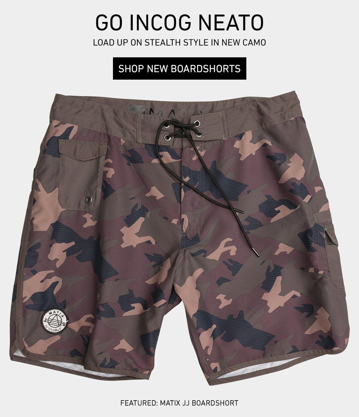 Incog Neato: New Camo Boardshorts