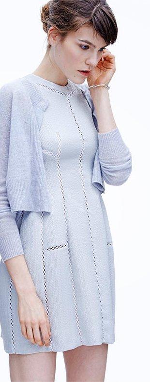 Textured Brocade Dress