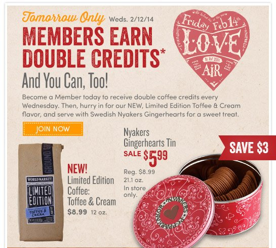 Members Get Double Credits