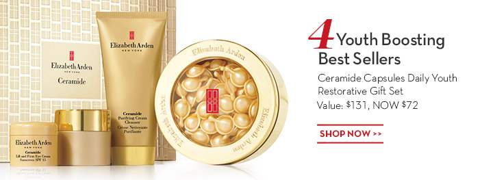 4 Youth Boosting Best Sellers. Ceramide Capsules Daily Youth Restorative Gift Set Value: $131, NOW $72. SHOP NOW.