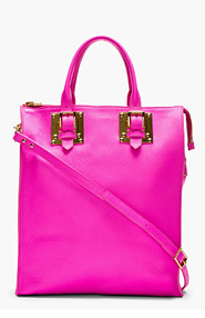 SOPHIE HULME Pink Grained Leather Tote Bag for women