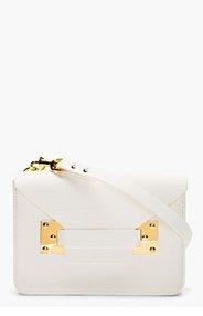 SOPHIE HULME White Leather Envelope Satchel for women