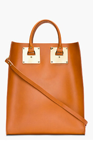 SOPHIE HULME Cognac Structured Leather Tote Bag for women