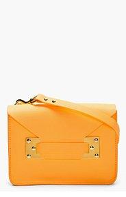SOPHIE HULME Orange Leather Envelope Satchel for women