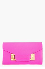 SOPHIE HULME Pink Leather Envelope Wallet for women