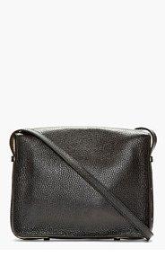 SOPHIE HULME Black leather Gold-trimmed Square Satchel Bag for women