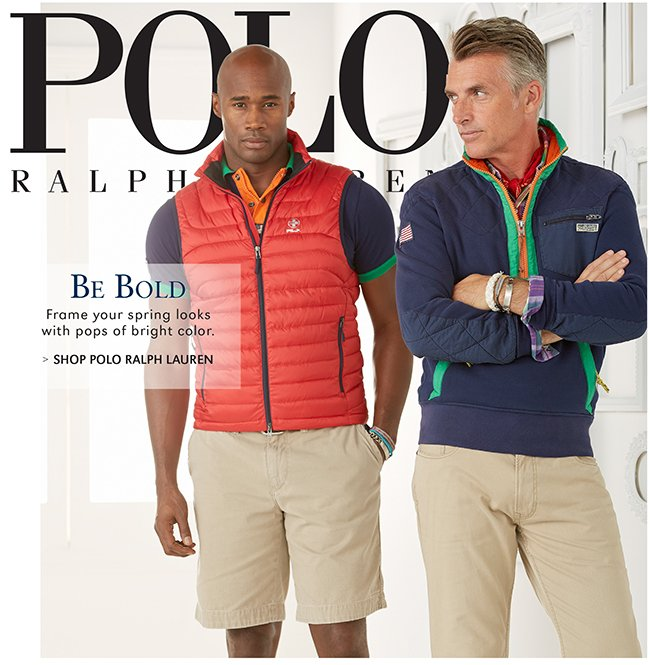 POLO RALPH LAUREN | BE BOLD | FRAME YOUR SPRING LOOKS WITH POPS OF BRIGHT COLOR. | SHOP POLO RALPH LAUREN