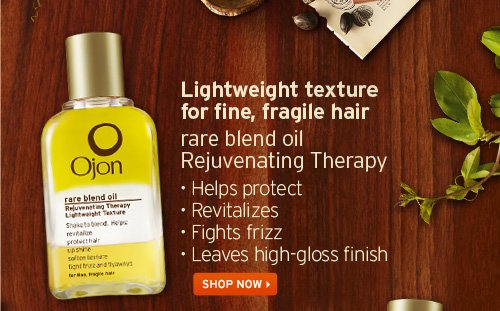 Lightweight texture for fine, fragile hair rare blend oil Rejuvenating Therapy Helps Protect Revitalizes Fights frizz Leaves high-gloss finish SHOP NOW