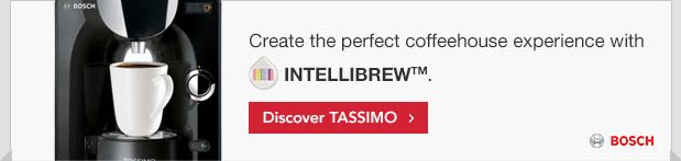 Create the perfect coffeehouse experience with INTELLIBREW™. Discover TASSIMO.