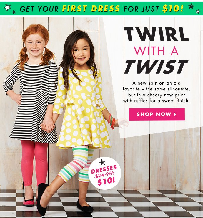 Twirl With A Twist. Dresses Just $10!