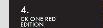 4. CK ONE RED EDITION