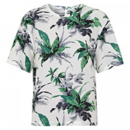 EQUIPMENT - Logan jungle print silk T-shirt