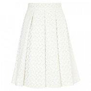 J.W.ANDERSON - Ten Pleat floral jacqaurd skirt