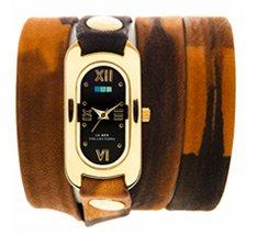 Neutral Tie Dye Gold Black Dial Soho Wrap Watch