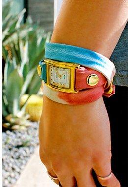 Malibu Red Tie Dye Wrap Watch