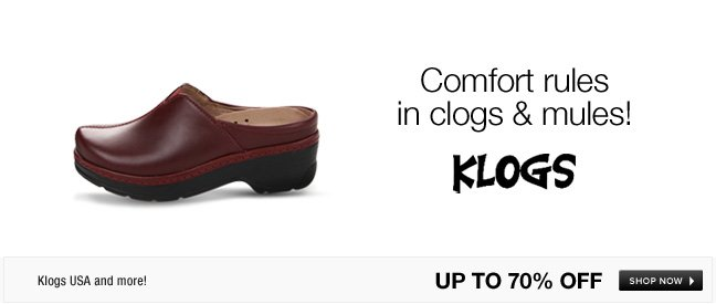 Comfort rules in clogs and mules!