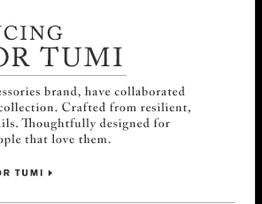 Introducing Cloud7 for TUMI - Shop Now