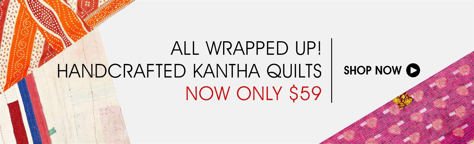 Kantha Quilts @ $59