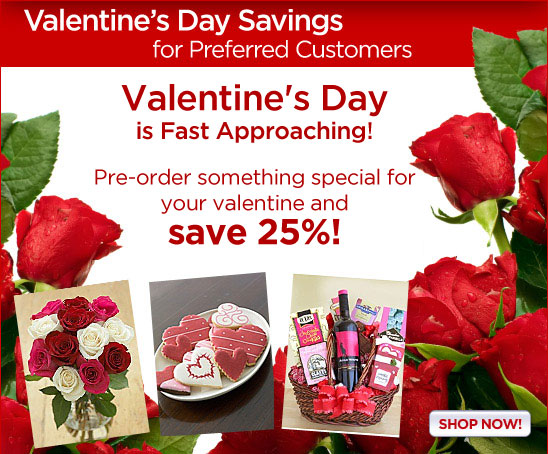 Save 25% on Valentine's Day Gifts!