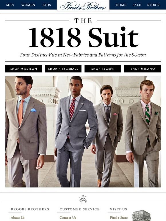 Brooks Brothers The 1818 Suit , Our Four Fits + The Newest