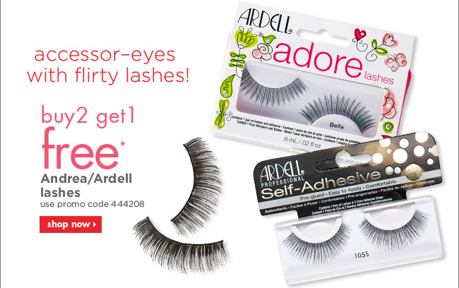 buy 2 get 1 free* Andrea/Ardell lashes