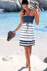 KangaROOS Navy Striped Bandeau Dress