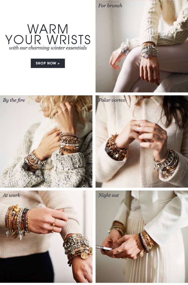 Bundle Up, and Layer On Alex and Ani. Shop now.