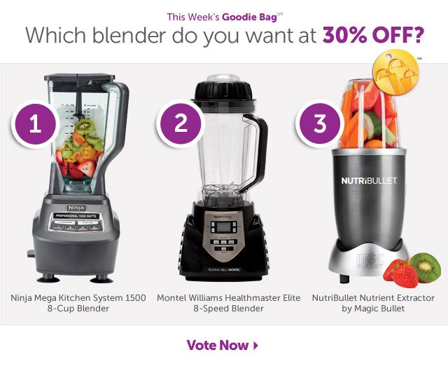 This Week's Goodie Bag  - Which blender do you want at 30% OFF? Vote Now