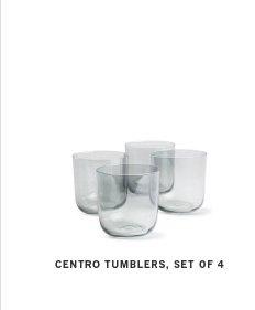 CENTRO TUMBLERS, SET OF 4