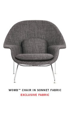 WOMB CHAIR IN SONNET FABRIC EXCLUSIVE FABRIC