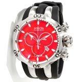 Invicta 10828 Men's Reserve Subaqua Venom Black Rubber Strap Red Dial Chronograph Watch