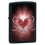 Zippo 28043 Classic Love Heart Black Matte Windproof Lighter
