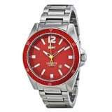 Lacoste 2010637 Men's Seattle Red Dial Stainless Steel Watch