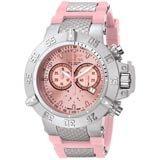 Invicta 1383 Men's Subaqua Noma III Pink Dial Chronograph Pink Rubber Strap Dive Watch